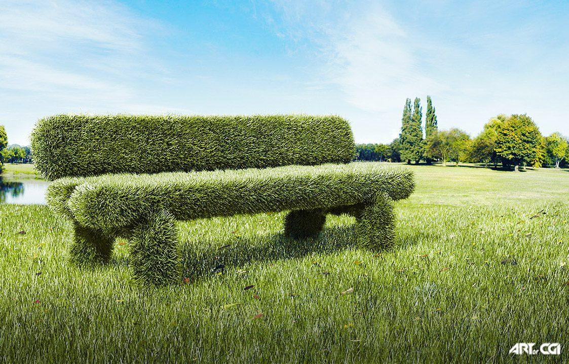 vray furla çimen yapımı